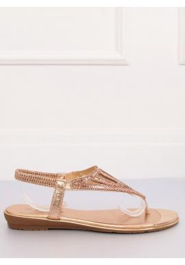 Módne dámske sandále ružovej farby s kamienkami