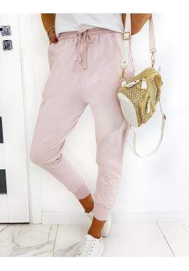 Ružové voľnejšie tepláky v štýle baggy pre dámy