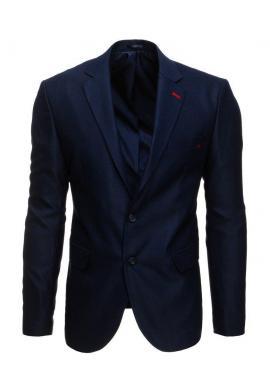 Pánske jednoradové sako v tmavomodrej farbe