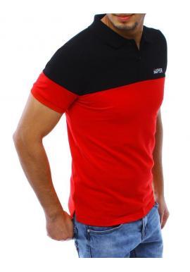 Čierno-červená štýlová polokošeľa pre pánov