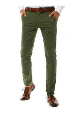 Pánske Chinos nohavice v zelenej farbe