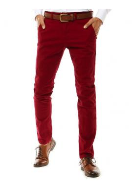 Elegantné pánske Chinos nohavice červenej farby