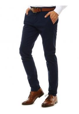 Pánske elegantné Chinos nohavice v tmavomodrej farbe