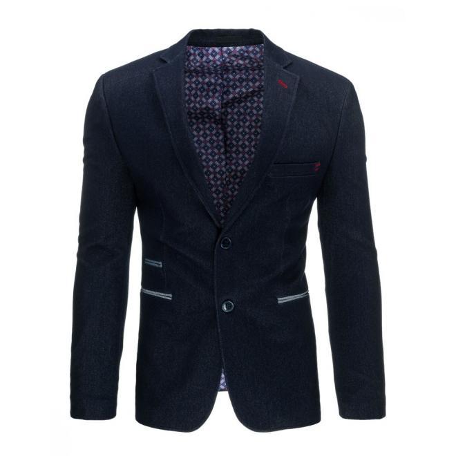 Bordové neformálne sako pre pánov