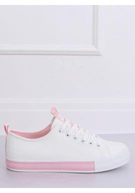 Bielo-ružové klasické tenisky pre dámy