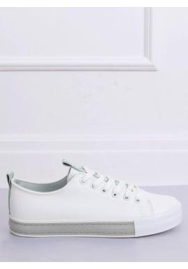 Klasické dámske tenisky bielo-sivej farby