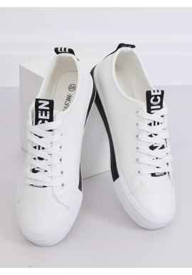 Dámske klasické tenisky v bielo-čiernej farbe