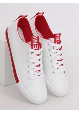 Dámske klasické tenisky v bielo-červenej farbe