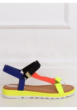 Farebné módne sandále so suchým zipsom pre dámy