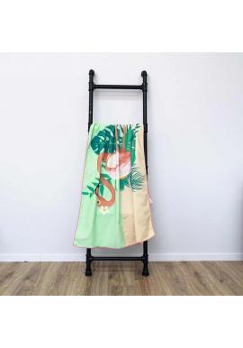 Farebný plážový ručník s motívom plameniaka