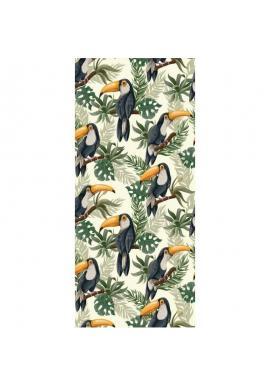 Plážový ručník s farebným motívom tukanov