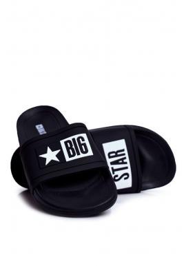 Pánske gumené šľapky Big Star v čiernej farbe