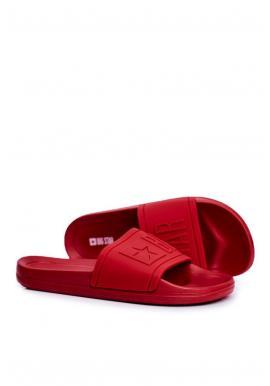 Červené gumené šľapky Big Star pre pánov