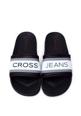 Pánske gumené šľapky Cross Jeans v čiernej farbe