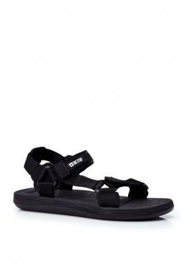 Športové pánske sandále Big Star čiernej farby