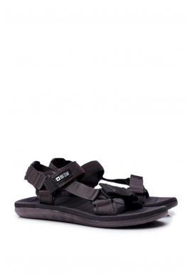 Pánske športové sandále Big Star v sivej farbe