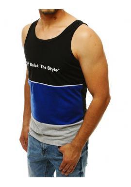 Športové pánske tričká čiernej farby s potlačou