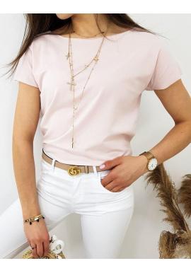 Klasické dámske tričko ružovej farby s krátkym rukávom