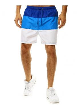 Modro-biele šortky na kúpanie s viazaním pre pánov