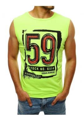 Športové pánske tričko zelenej farby s potlačou