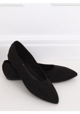 Čierne semišové balerínky pre dámy