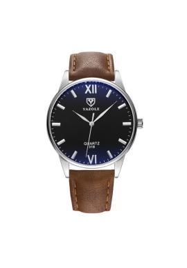 Pánske hodinky Yazole s čiernym ciferníkom v čiernej farbe