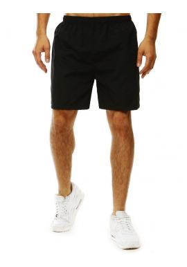 Pánske kúpacie šortky s kontrastným pásom vzadu v čiernej farbe