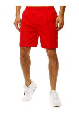 Červené kúpacie šortky s kontrastným pásom vzadu pre pánov