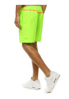 Kúpacie pánske šortky zelenej farby s kontrastným pásom vzadu