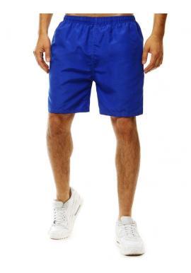 Pánske kúpacie šortky s kontrastným pásom vzadu v modrej farbe