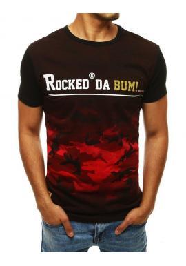 Pánske štýlové tričko s potlačou v červenej farbe