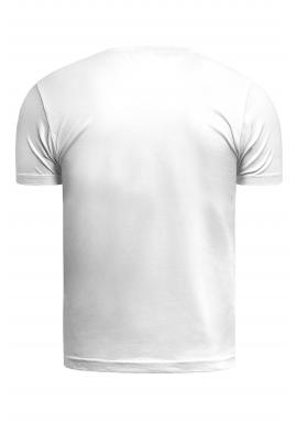 Pánske klasické tričko s krátkym rukávom v bielej farbe