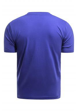 Klasické pánske tričko modrej farby s krátkym rukávom