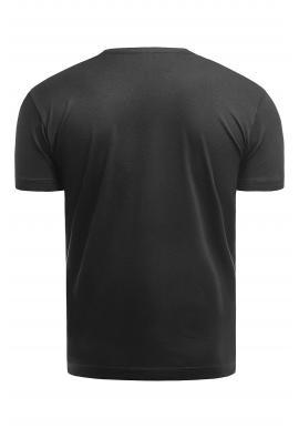 Pánske klasické tričká s krátkym rukávom v čiernej farbe