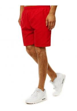 Červené meniace sa šortky na kúpanie pre pánov