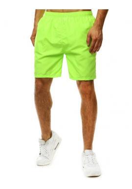 Meniace sa pánske šortky zelenej farby na kúpanie