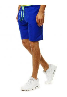 Pánske kúpacie šortky s kontrastným detailom v modrej farbe
