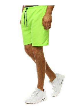 Zelené kúpacie šortky s kontrastným detailom pre pánov