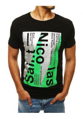 Pánske štýlové tričká s potlačou v čiernej farbe