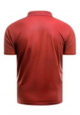 Vypasovaná pánska polokošeľa červenej farby s tromi gombíkmi