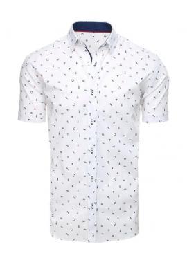 Biela košeľa s námorníckym motívom pre pánov
