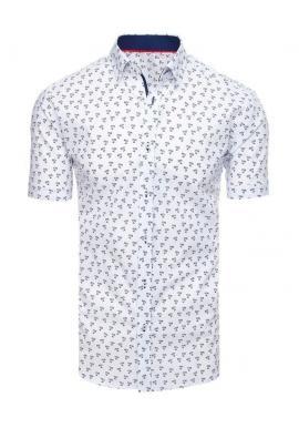 Pánska košeľa s motívom paliem v bielej farbe