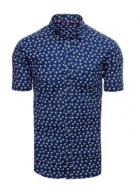 Pánska košeľa s motívom paliem v tmavomodrej farbe