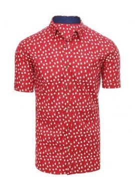 Červená košeľa so vzorom pre pánov