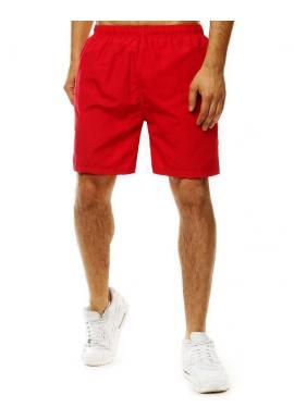 Meniace sa pánske šortky červenej farby na kúpanie