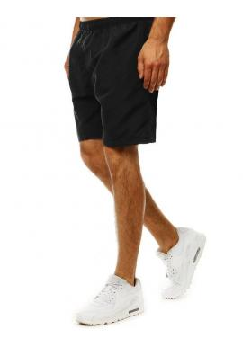 Meniace sa pánske šortky čiernej farby na kúpanie