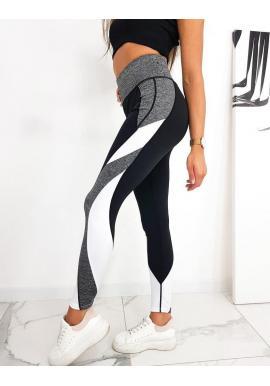 Dámske športové legíny s vysokým pásom v čiernej farbe