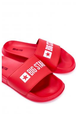 Letné pánske šľapky Big Star červenej farby