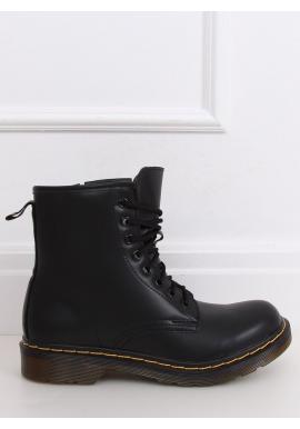 Módne dámske Workery čiernej farby