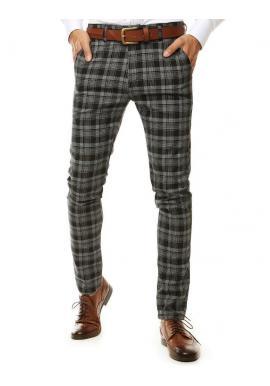 Čierne vzorované Chinos nohavice pre pánov